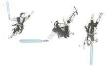A negyedik forma alapját három su ma mozdulat képezi: 1. a Jung Su Ma pördülés, 2. a Ton Su Ma bukfenc, 3. az En Su Ma cigánykerék